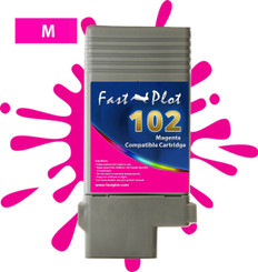 FastPlot Compatible Ink Cartridge Replacement for Canon 102 - Magenta