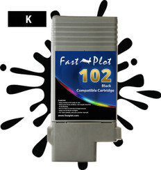 FastPlot Compatible Ink Cartridge Replacement for Canon 102 - Black