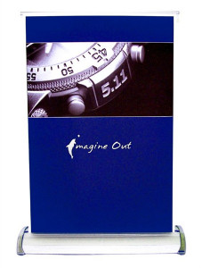 A4 Size Single Sided Mini Retractable Banner Stand