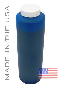 Bottle 454ml of Dye Ink for use in HP DesignJet 800 Cyan made in the USA