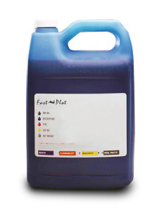 Gallon 3785ml of Light Solvent Ink for use in Mimaki JV3 SS2 Light Cyan made in the USA