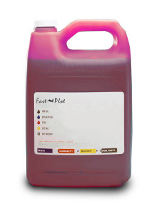 Gallon 3785ml of Light Solvent Ink for use in Mimaki JV3 SS2 Light Magenta made in the USA
