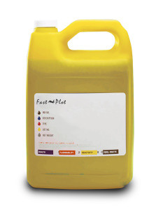 Gallon 3785ml of Eco Solvent Ink for use in Mimaki printers Yellow made in the USA
