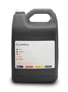 Gallon 3785ml of Eco Solvent Ink for use in Roland printers Black made in the USA