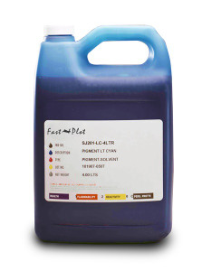Gallon 3785ml of Eco Solvent Ink for use in Roland printers Cyan made in the USA