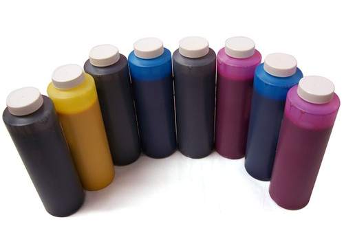 Set of 6 bottles 454ml of Dye Ink for use in Epson 7600, 9600, made in the USA