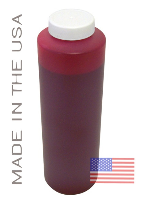 Bottle 454ml of Pigment Ink for use in HP DesignJet Z3100, Z3200 Red made in the USA