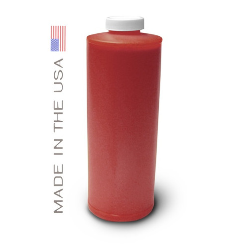 Bottle 1000ml of Pigment Ink for use in HP DesignJet Z3100, Z3200 Red made in the USA