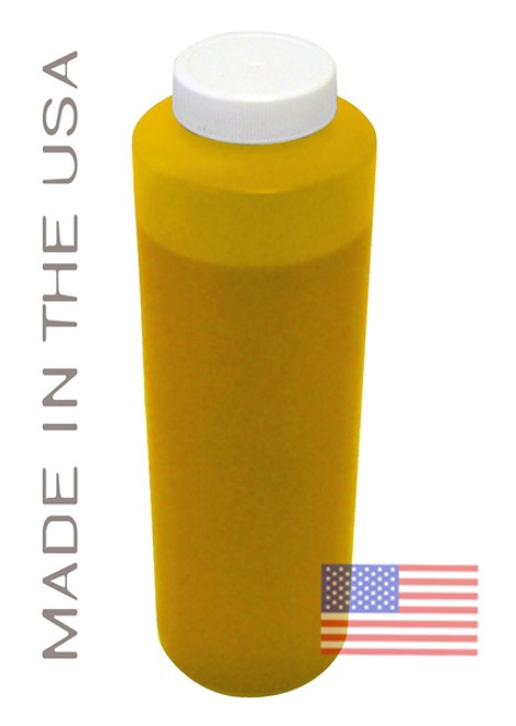 Bottle 454ml of Pigment ink for use in Epson R1900 printer Yellow made in the USA