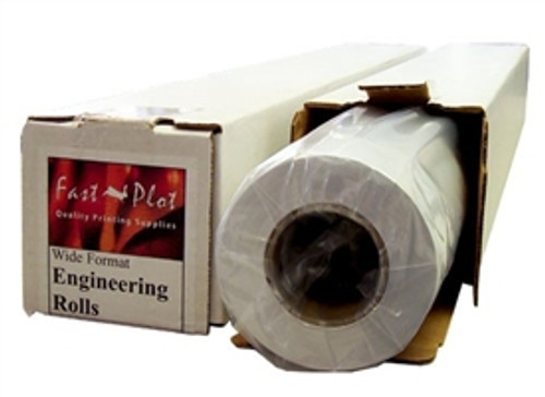 20 lb. Bond Plotter Paper 92 Bright 17 x 150 2 Core - 4 Rolls