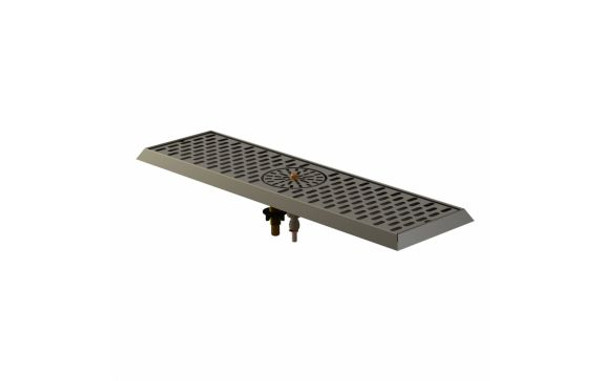"""Stainless 1800 Series Drain Pan with Glass Rinser Center, 7-3/4"""" x 14-3/16"""""""