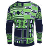 Seattle Seahawks Patches NFL Ugly Sweater by Klew