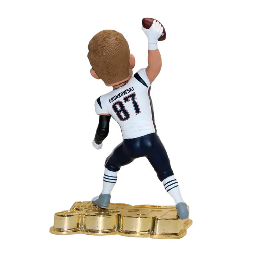 Rob Gronkowski (New England Patriots) NFL 100 GOLD Exclusive Bobblehead #/100 (PRE-ORDER ships November)