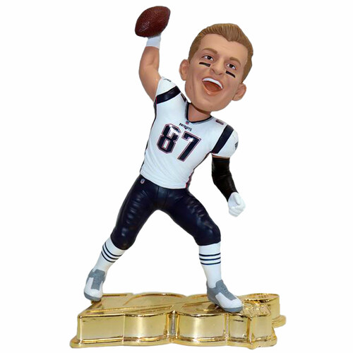 Rob Gronkowski NFL 100 GOLD Exclusive Bobblehead #/100