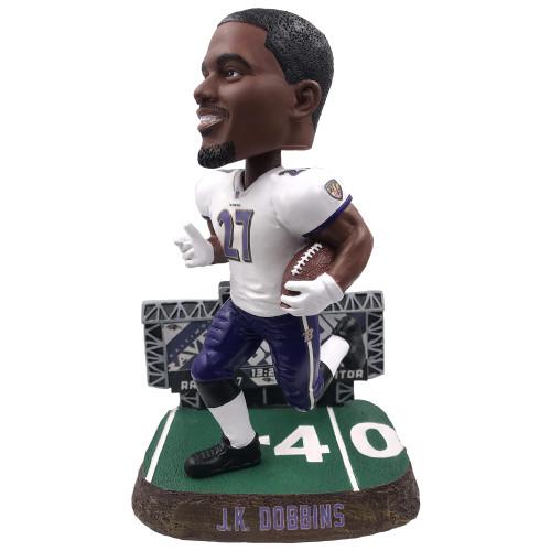 J.K. Dobbins (Baltimore Ravens) 2021 NFL Scoreboard Bobblehead by FOCO (PRE-ORDER ships July)