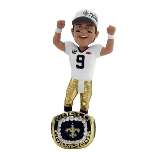 Drew Brees (New Orleans Saints)  Super Bowl XLIV Championship Ring Base Exclusive NFL Bobblehead #/360