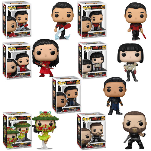 Shang-Chi and the Legend of the Ten Rings Complete Set (7) Funko Pop! (PRE-ORDER Ships September)