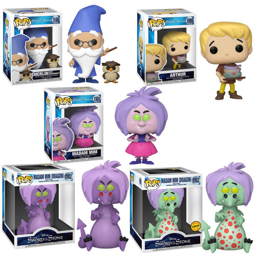 The Sword in the Stone Complete Set (5) w/CHASE Funko Pop! (PRE-ORDER Ships January)