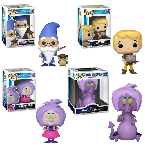 The Sword in the Stone Complete Set (4) Funko Pop! (PRE-ORDER Ships January)