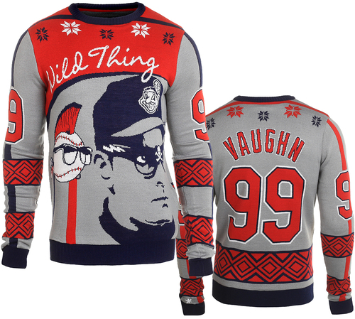 """Ricky """"Wild Thing"""" Vaughn (Major League) Ugly Sweater by Forever Collectibles"""