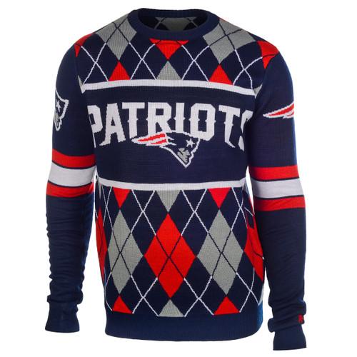 New England Patriots EXCLUSIVE NFL Argyle Sweater