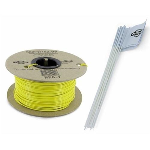 PetSafe PSRFA-500 Pet Fence Wire and Flag Kit 500 Feet