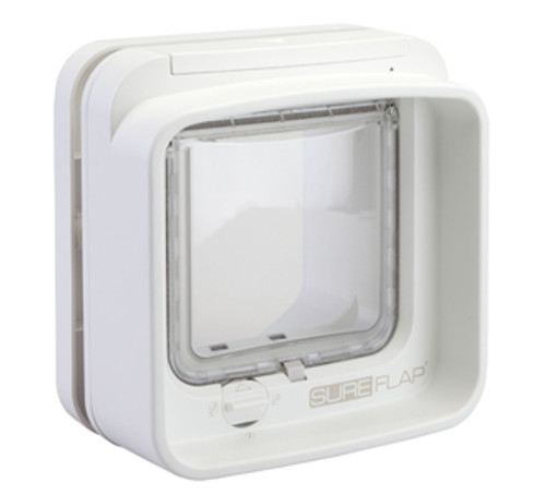 SureFlap DualScan Microchip Cat Door (White) (DSCF001) Back View