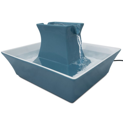 Drinkwell PWW00-14898 Blue Stoneware Pagoda Fountain