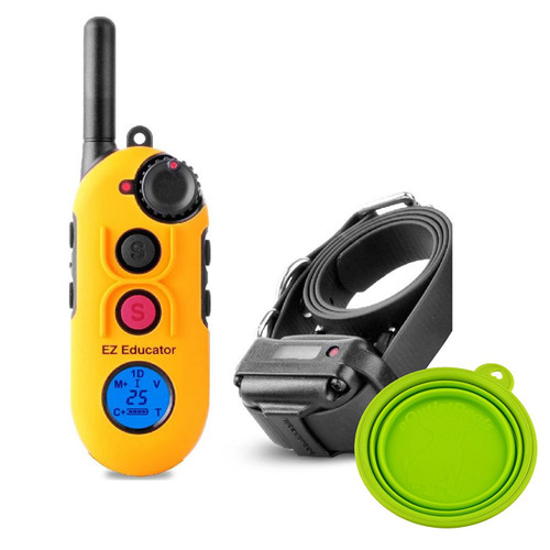 E-Collar Easy Educator EZ-900 1/2 Mile Remote Dog Trainer + FREE Travel Bowl