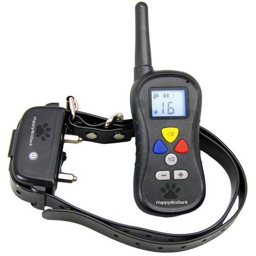 HappyNoBark Dog Training Collar with Remote - 330 Yards