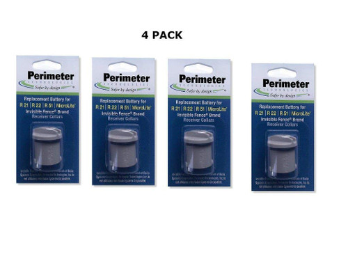 Invisible Fence Collar Battery - Brand Compatible - Bonus eOutletDeals Pet Towel - 4 Pack
