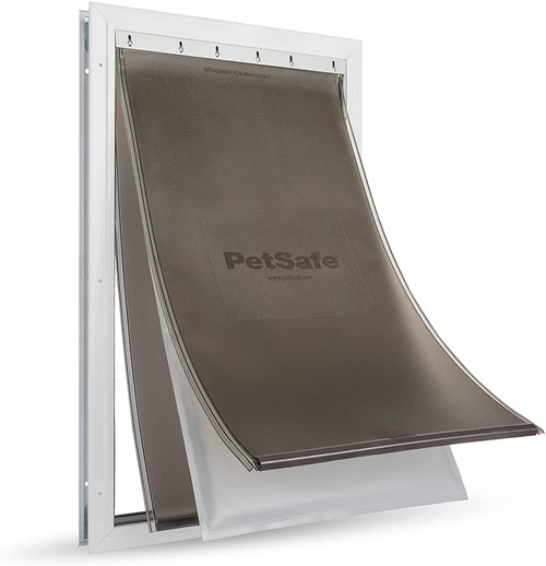 PetSafe Extreme Weather Aluminum Pet Dog Door with 3 Flaps Insualtion