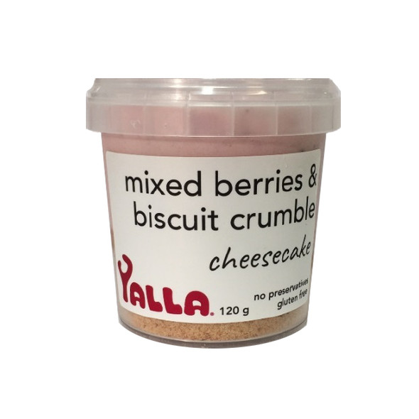 Yalla Cheesecake Mixed Berry & Biscuit Crumble 120g (Carton of 6) (Pre-Order Item)