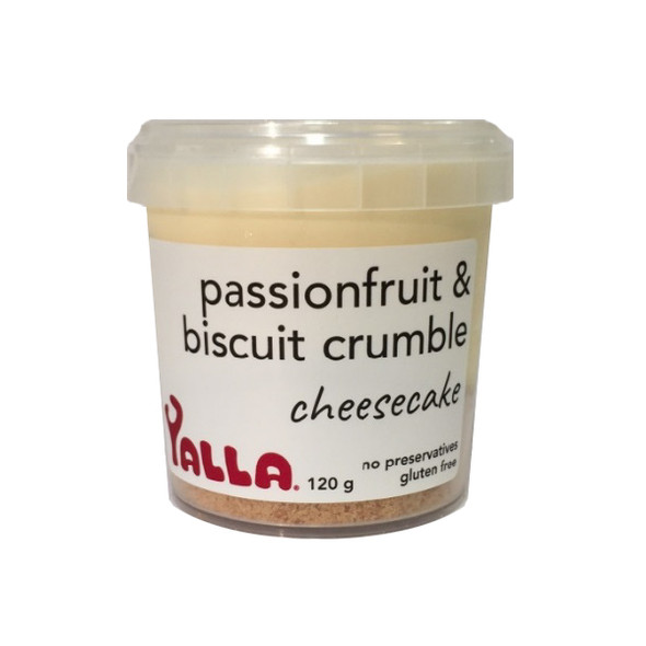 Yalla Cheesecake Passionfruit & Biscuit Crumble 120g (Carton of 6) (Pre-Order Item)