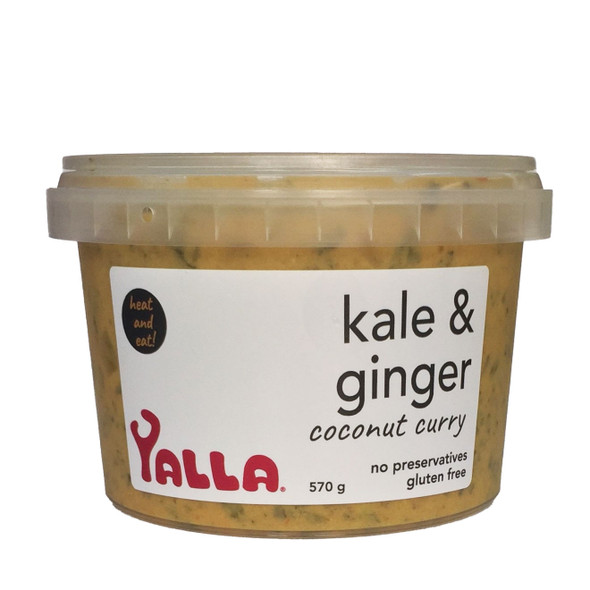 Yalla Kale & Ginger Coconut Curry 570g (Carton of 3) (Pre-Order Item)