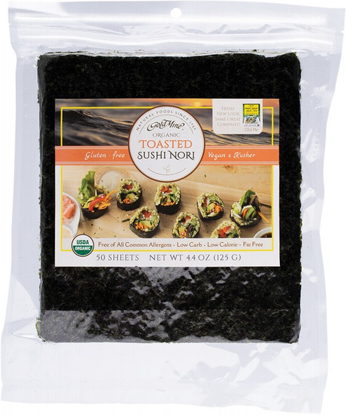 Gold Mine Sushi Nori Organic Toasted (50 Sheets) 125g (Back in Stock 13/08/21)