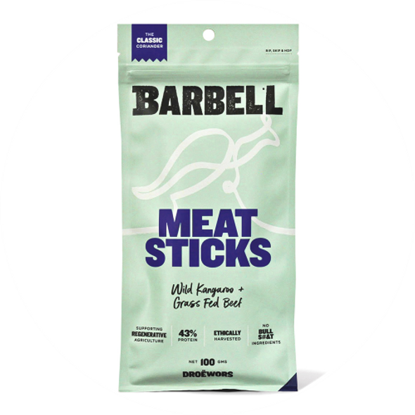Barbell Foods Coriander Meat Stick 100g (Carton of 12)