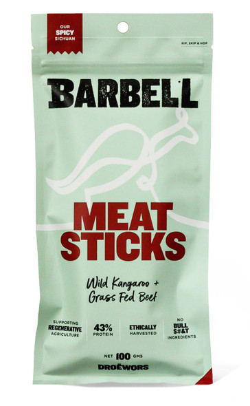Barbell Foods Spicy Sichuan Meat Stick 100g (Carton of 12)