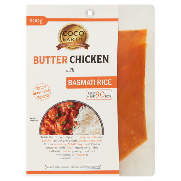 Coco Earth Butter Chicken & Rice 400g (Carton of 4)