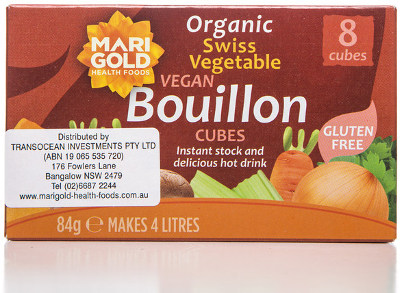 Marigold Health Foods Bouillon Cube Red Dairy Free 84g (Carton of 12)