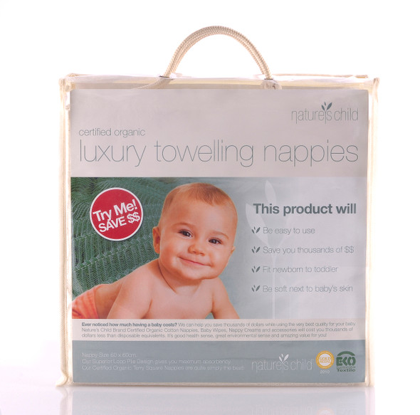 Nature's Child Luxury Towelling Nappies