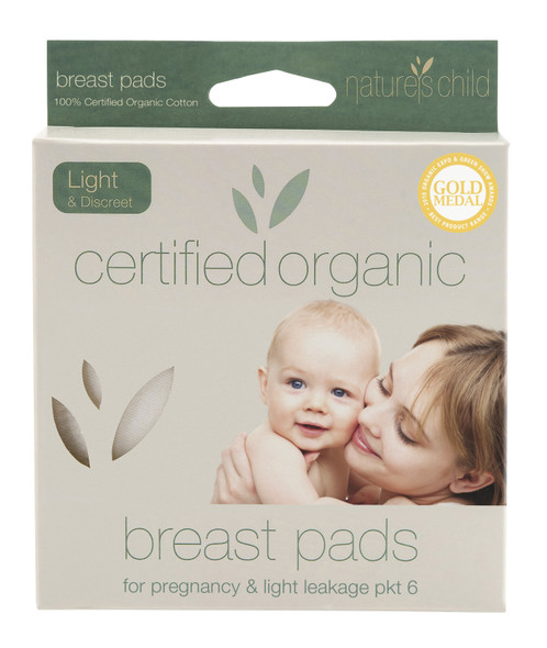 Nature's Child Reusable Breast Pads Organic Light & Discreet 6-Pack  *TEMPORARILY UNAVAILABLE*