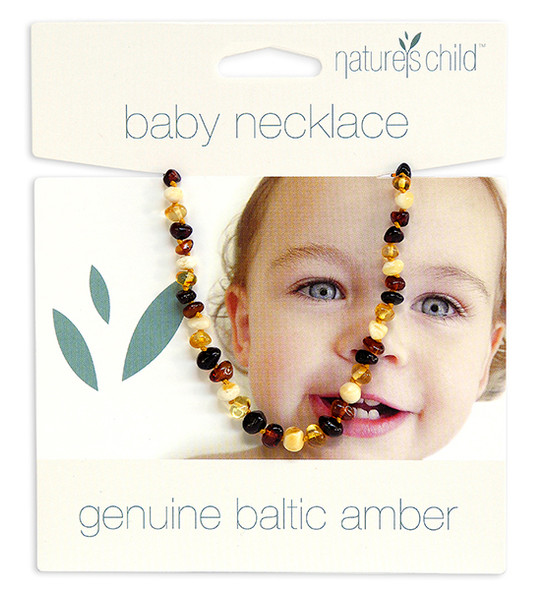 Nature's Child Amber Necklace - Mixed Colours