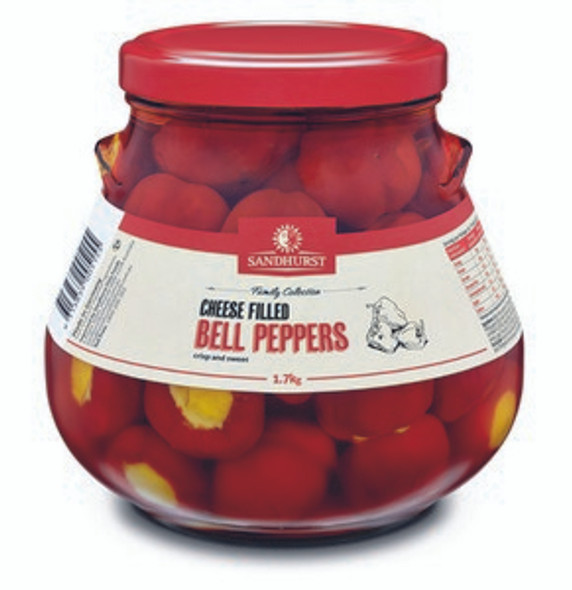 Sandhurst Cheese Filled Bell Peppers 1.7Kg