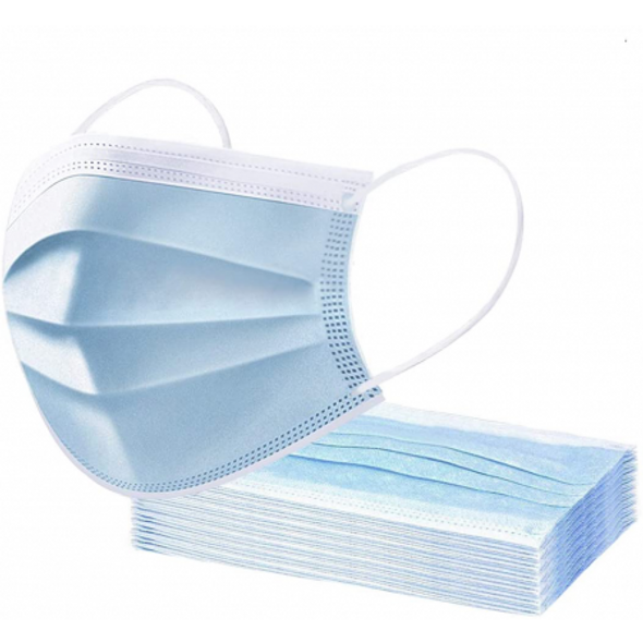 Disposable Face Mask 3Ply 50Pieces 250g