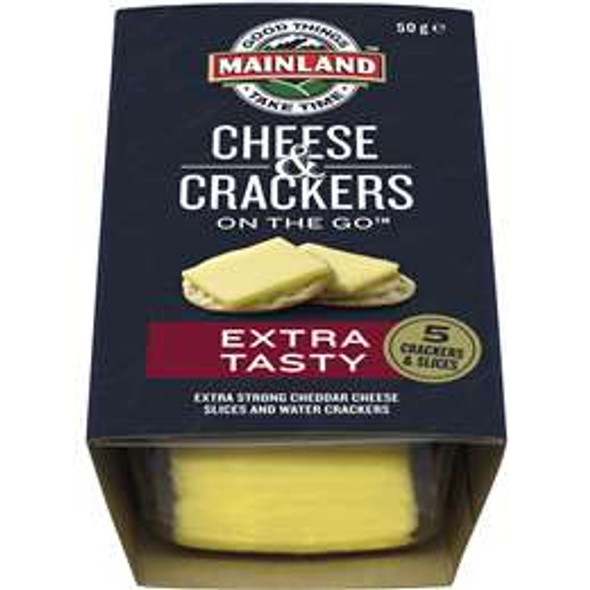 Mainland On The Go Special Reserve Cheese & Crackers 50g (Carton of 7)