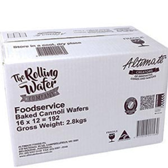 Altimate Chocolate Wafer Cannoli 80Mm 192'S 1Kg
