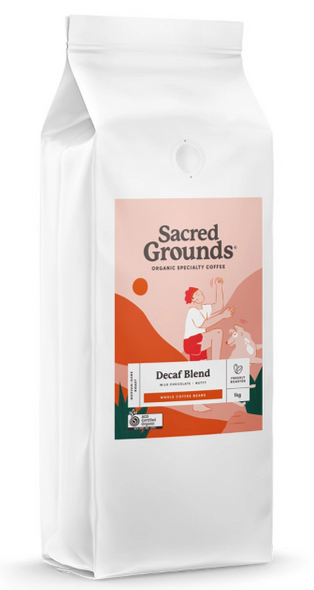 Sacred Grounds Organic Decaf Coffee Beans 1kg (Pre-order Item)