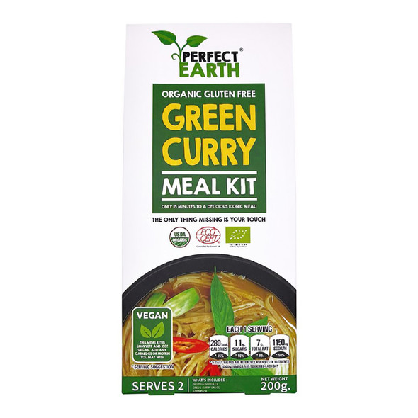 Perfect Earth Organic Gluten Free Meal Kit - Green Curry 200g (Carton of 6)