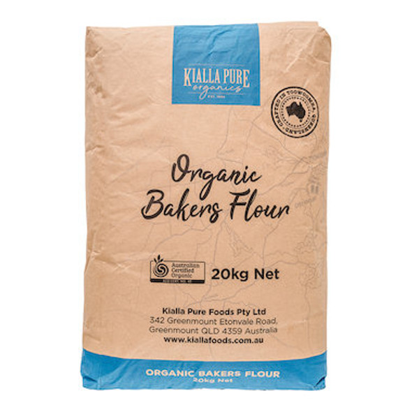 Kialla Flour Bakers Organic 20kg *DISCONTINUED FROM SUPPLIER*